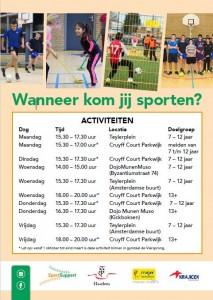 Flyer Sport in jouw Wijk Oost a