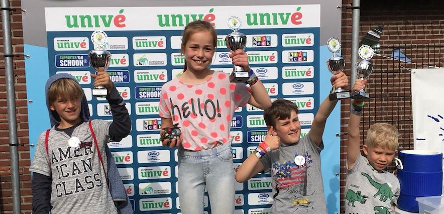 Evi knikkerkampioen van Haarlem