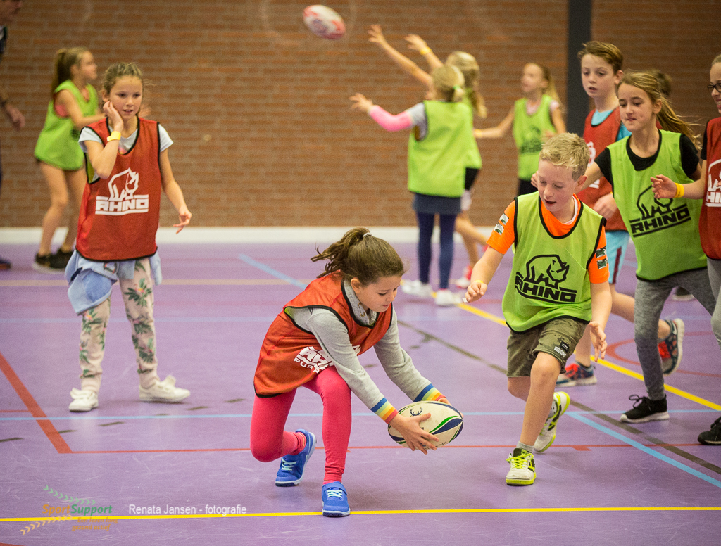 Veel enthousiaste kinderen bij het Sportontbijt Heemstede