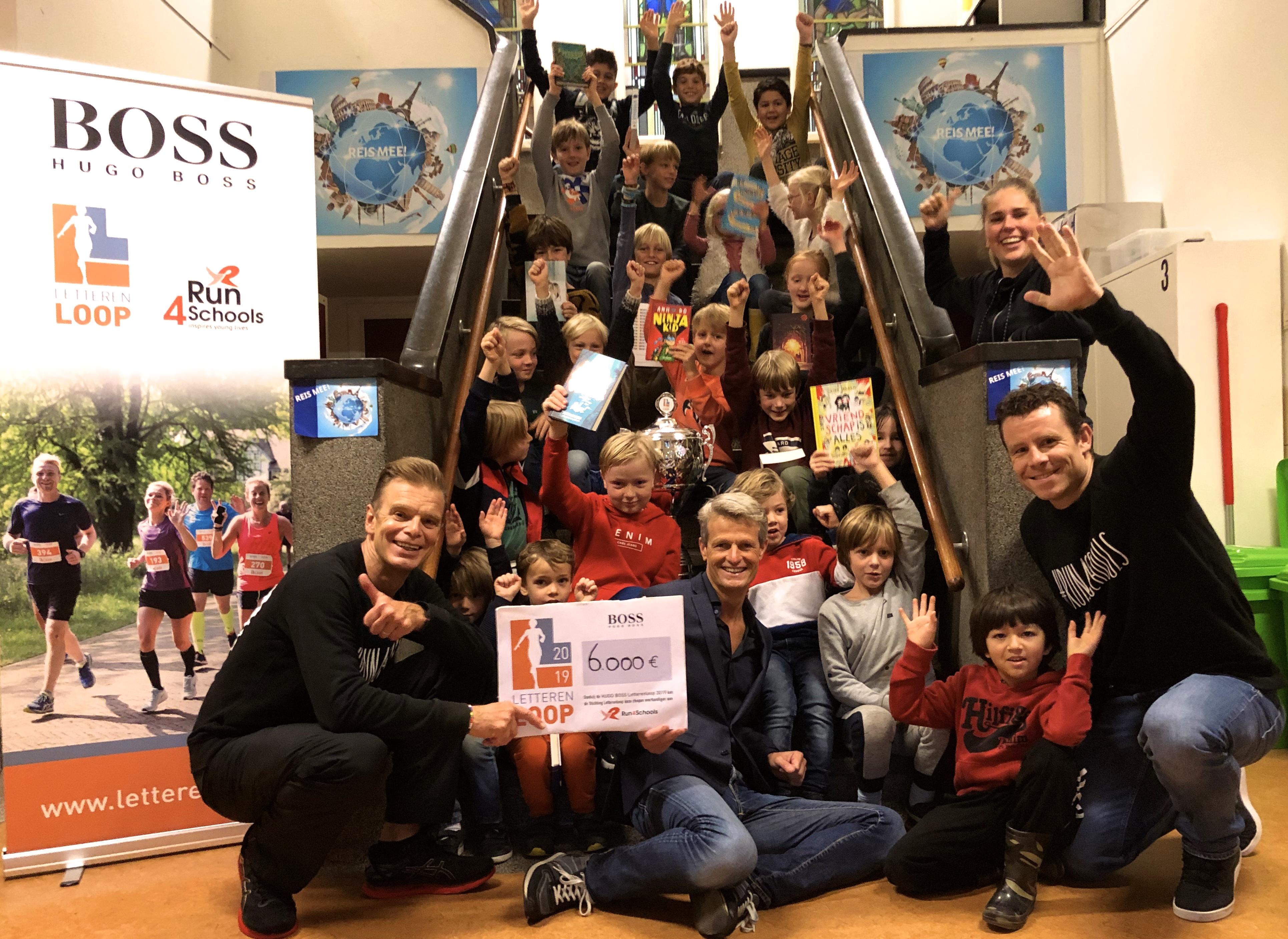 HUGO BOSS LETTERENLOOP deelt uit tijdens Kinderboekenweek